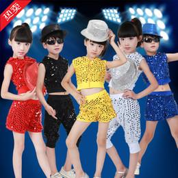 style de vêtements hip hop dance Promotion Costume de Danse Pour Enfants Jazz Wear New Style Sequin hip-hop Dance Jazz Enfants Compétitions Spectacle Vetement