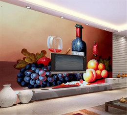 2020 fondo de pantalla de frutas Mural personalizado 3D Wallpaper HD Fruta Naturaleza muerta Pintura al óleo Salón Dormitorio Fondo Decoración de pared Mural Wallpaper rebajas fondo de pantalla de frutas
