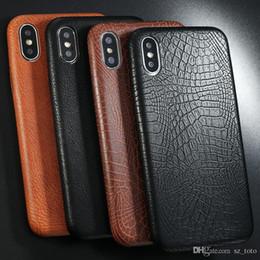 Canada Cas de téléphone de modèle en cuir PU PU pour iphone 6 6s 7 8 plus cas peau de crocodile souple couverture arrière pour iphone x xs max cas xr cheap iphone crocodile cover Offre