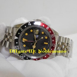 montres hommes couleur rouge Promotion 2 Color Top Hot Items Mens 40mm GMT Vintage 1675 Black Red Blue Pepsi Bezel BP Factory 2813 Movement Mechanical Men's Automatic Watches
