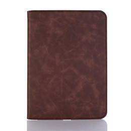 Handleder ipad fall online-Hochwertige Ledertablette Anti-Drop-Tasche für iPad Mini-Serie Shell Flip Fold und Cash Wallet Cover mit Handseil für iPad Air 5 6 Fall