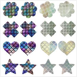 2019 forma de silicone estrela Laser poliéster silicone adesivos para o coração do peito / Formato de Estrela / Cross / flor Capuz descartáveis pastéis Bra Acessórios Ferramentas RRA1341 forma de silicone estrela barato