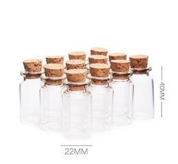 Ремесла маленькие стеклянные бутылки онлайн-500 х 7 мл ясно небольшой милый мини пробка стеклянные банки контейнеры мини желая бутылка стекло ремесло