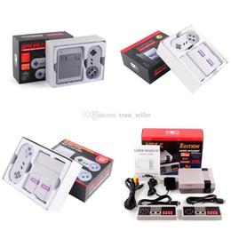 jogo pmp 4gb Desconto Sistema Handheld video do entretenimento do console do jogo da tevê super de SFC Famicom mini para a caixa de varejo inglesa dos jogos de NES SNES