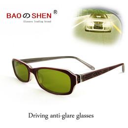 Óculos de visão noturna para adultos on-line-Dirigindo à noite de alta definição óculos de visão noturna de alta feixe de luzes polarizada homens noite adulto óculos de sol mulheres pequena caixa