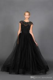 vestidos de recepción de boda blanco negro Rebajas Moderno negro con cuentas de tul una línea de vestido de novia gótico Informal No blanco Recepción Vestidos de novia