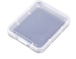Caja de la caja de plástico de la tarjeta CF Soporte de la tarjeta de memoria transparente estándar Caja de almacenamiento de la caja blanca de MS para TF micro XD Estuche para tarjeta SD 1200PCS desde fabricantes