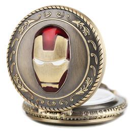 смотреть женщин медь Скидка Creative Iron Man Pocket Watch Quartz Analog Mask  Necklace Chain Copper Jewelry  Men Women Souvenir Gifts 2019