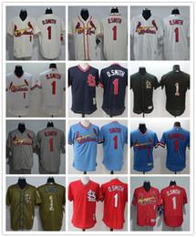 7d10d113440 Custom Men s Women Youth St. Louis Cardinals Jersey   1 Ozzie Smith 14 Ken  Boyer Rojo Gris Blanco Béisbol Jerseys