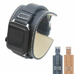 2019 Nuevo tipo de muñeca de calidad superior correa de cuero correa para Apple reloj correa de piel de vaca iwatch banda accesorios con adaptador desde fabricantes