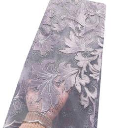 Canada Mariée Africaine Sequin Dentelle Tissu Or Dernier Velours Nigérian Dentelle Tissu 2019 Haute Qualité Argent Dentelle Tissu Pour Robes supplier silver sequin fabric dresses Offre