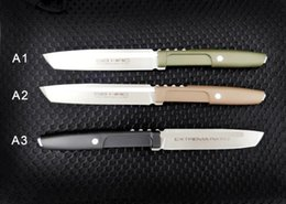 2019 coltelli da caccia di lame fisse extrema ratio coltello dritto D2 Lama G10 Maniglia 60HRC Lama fissa da campeggio coltello da sopravvivenza Coltello regalo Natale 1 pz coltelli da caccia di lame fisse economici