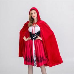 Traje de uniforme personalizado online-Moda Customes Caperucita Roja Costume Castle Queen Costume Halloween Cosplay uniforme para adultos Cosplay disfraces
