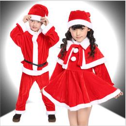 Kids Father Christmas Santa Claus Suit Costume Boys Children Girls Xmas Dress DS