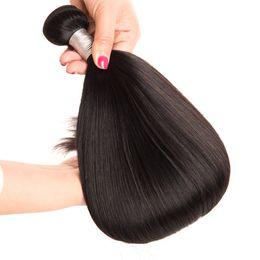 2019 anpassen haarwebart gerade reine Webart Remy 100% bündelt Haar 10-30 Zoll schnelle Anlieferung der natürlichen Farbe 1pc / bag kundengebundenes Tropfenverschiffen