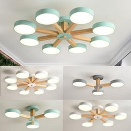 Argentina Lámpara LED moderna para sala de estar Iluminación blanca moderna del dormitorio de madera Lámparas montadas en superficie simple Suministro