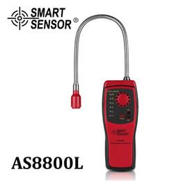 2020 medidor de luz sonora Smart Sensor Gas Analyzer combustível porta detector de gás inflamável gás natural vazamento Localização Determinar medidor Tester Luz Som Alarm AS8800L medidor de luz sonora barato