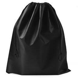 Bolsa de tela con cordón online-Tela no tejida Bolsas de almacenamiento Resuable Moth Proof Bolsa Rectangular Zapatos Ropa Bolsa con cordón Ecológico 0 9ss5 B