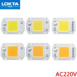 2019 lampara led cuentas blanco frio 10pcs / lot LED COB viruta 20W 30W 50W AC220V / 110V luz conductor Cuentas inteligente IC para bricolaje reflector al aire libre