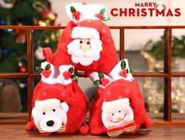 paquetes de dulces de santa Rebajas Festivo lindo de Santa Claus muñeco de nieve de caramelo bolsas de regalo de la galleta bolsas de embalaje del bolso del partido Feliz Navidad Paquete de almacenamiento