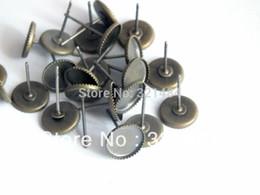 lünette für ohrring Rabatt 500piece / lot 12mm Lünette Raumminiatur Basisohrring-Pfosten mit Auflage