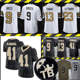 Maglia da uomo New Orleans Saints 9 Drew Brees 41 Alvin Kamara 13 Michael Thomas 7 Taysom Hill 23 Marshon Lattimore maglie da