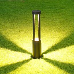 luzes de amarração Desconto Jardim Lawn Luz 10W COB Estacionamento cabeços LED Jardim Luz AC85-265V alumínio impermeável LED Lamp Landscape