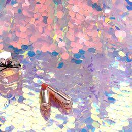 2019 padrões de iluminação exterior Iridescente Lantejoula Partido Toalha De Mesa de Glitter Tecido Backdrops Do Partido Para O Casamento de Natal Do Chuveiro Do Bebê Sereia Unicórnio DIY Decoração