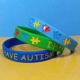 Творческий Mulitcolor аутизм силиконовый браслет-головоломка письмо браслет ремешок для молодежи взрослых ювелирные изделия мода новинки партии подарки TTA703 от Поставщики музыка черных ангелов