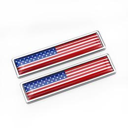 États-Unis États-Unis Drapeau en alliage de Zinc Autocollant pour voiture Étiquette Emblème Badge style de voiture [58x14mm] ? partir de fabricateur