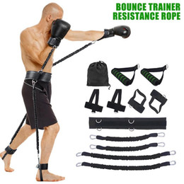 rope exercise Promo Codes - 25LBC Body Band Exercise Belt For Jump Training Workout Leg Tennis Fitness Exercise Bouncing trainer for Men Women