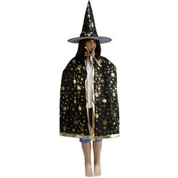 Cadılar bayramı Cadı Şapka Pelerin Set Kostüm Partisi Glitter Yıldız Dekorasyon Cadı Şapka Cospaly Kostümleri Prop 899 nereden