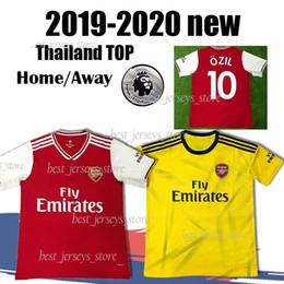Mejores uniformes de futbol online-Tailandia Holloway LICHTSTEINER camiseta de fútbol local de casa RAMSEY 2019 2020 Camiseta GUENDOUZI Uniformes de fútbol camisetas mejor