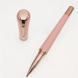 Penne per edizione limitata online-Penna di lusso MB penna di marca in edizione limitata Muse Marilyn Monroe firma Penne a sfera classiche con penne regalo con clip di perle + Dare borse di velluto