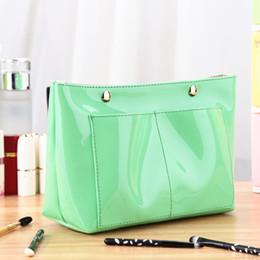 2019 novo fluorescente verde PVC viagens portátil bolsas high-end personalizado geléia pvc senhoras saco de cosmética cheap green pvc cosmetic bags de Fornecedores de sacos de cosméticos pvc verde