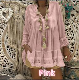 Новая белая блузка плюс размер женская рубашка женские топы корейский топ кружева мода розовый бохо блузки винтаж cheap xl white lace blouse от Поставщики xl белая кружевная блузка