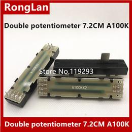 Espectador online-[BELLA] Behringer Mezcladores Potenciómetros deslizantes potenciómetro doble 72MM 7.2CM A100K B100K longitud del mango 12MM - 10PCS / LOT