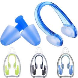 Bouchons d'eau en Ligne-Clips de nez pour la natation en silicone souple + 2 bouchons d'oreille Bouchons d'oreille Ensemble Accessoires de piscine Sports nautiques Outils de natation