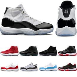 timeless design 40685 7b7a9 Concord 45 Herren Basketball-Schuhe 11 XI 11s Prom Nacht Platinum Tint Gym  Red Bred Damen Sport Sneakers Trainer Größe 5.5-13