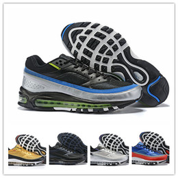 Nike Air Max 97 BW x Skepta Metallica Argento Viola Scarpe per Uomini Designer Sneakers 97s London Bronze des Chaussures Schuhe Zapatios Size 12