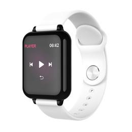 reloj para fitbit flex Rebajas B57 Mujeres Relojes inteligentes Deportes a prueba de agua para el teléfono Iphone Monitor de ritmo cardíaco Smartwatch Funciones de presión arterial para niños