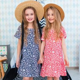 2019 baumwolle bedruckte taschen für mädchen Nette Mädchen kleidet Beutel-Muster-Druck-Entwerfer-Kinderkleidung für Baby-Partei-Kleid 100% Baumwoll-A-line-Kleid günstig baumwolle bedruckte taschen für mädchen
