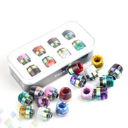 Tropfspitzen-sets online-Epoxidharz Rainbow SS Tropfspitze Kit Set Wide Bore 810 510 Faden Schlangenhaut Gitter Pilze Mundstück Vape DHL