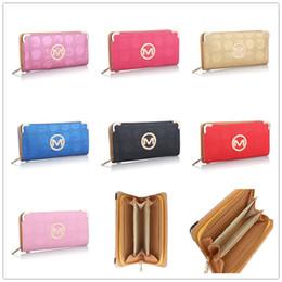 Sacs de designer michael en Ligne-29 couleurs designer marque femmes hommes portefeuilles porte-monnaie Michael PU en cuir sac à main fente pour carte sacs pochette Party Party Notecase B61302