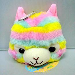 Bébé Rainbow Stripe Alpaca Coin sac à main enfants sac en peluche jouet de dessin animé mignon Alpacasso portefeuille porte-clé Mma656 ? partir de fabricateur