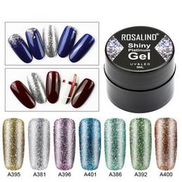 Poly paillettes en Ligne-Vernis à ongles en gel Lamemoria Hybrid Vernis Ensemble Glitter Platinum Peinture Nails Art Poly UV Gellak Primaire Base pour Amorce