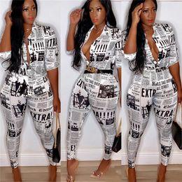 Camicette spandex online-Tuta da donna Tuta da donna vintage Designer Tuta da donna Blazer Camicetta e pantaloni da matita Summer Ins Fashion Matching Suit C71109