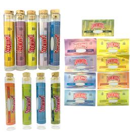 2020 corchos de vidrio Dankwoods vacío tubo de vidrio con etiquetas PreRoll Dank madera del corcho vidrio borosilicato Dankwood 120 * 21 mm Pre Rolls cigarrillo electrónico de vapor Tubos Vapes corchos de vidrio baratos