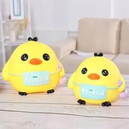 2019 miniature paesaggio Lovely Yellow Ducks Action Toy Figure bambole in vinile Cartoon Animal Figure Paesaggio miniatura decorazione torta regali per i bambini sconti miniature paesaggio