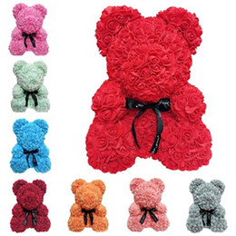 Canada Mode chaude Nouvelle créative Cadeau de Saint Valentin Bulle fleur rose ours cadeau de Noël Nouveauté Articles T7I5032 Offre
